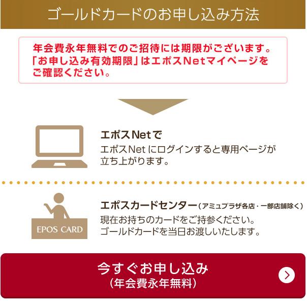 エポスゴールドカードインビテーション画面