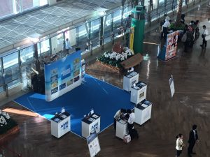 那覇空港のアメックス営業ブース